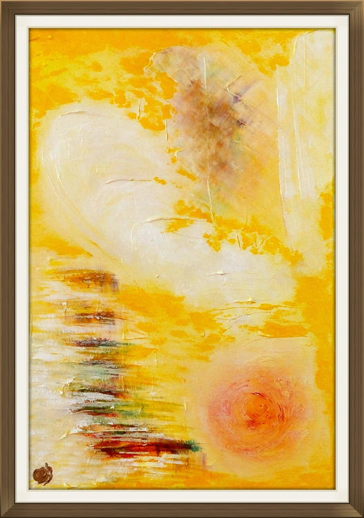 Alpha and Omega abstract painting by Ron Labryzz