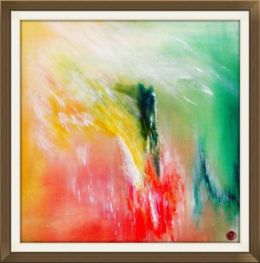 Enigma abstract painting by Ron Labryzz