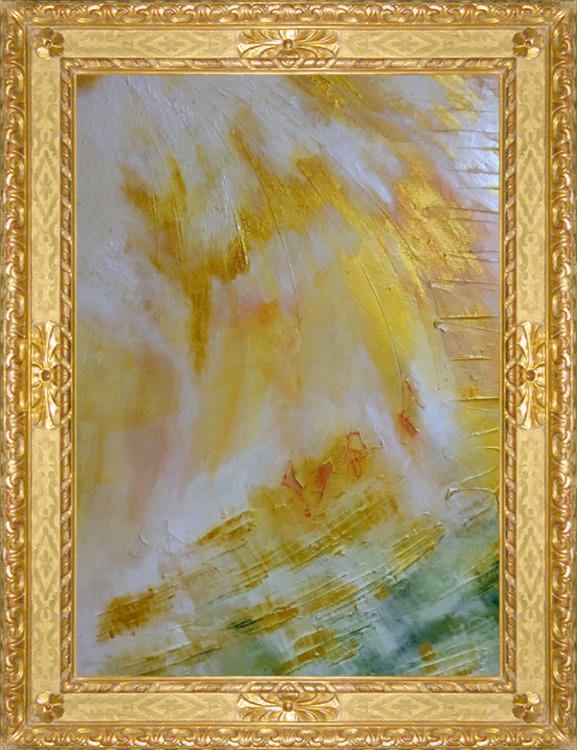 Lux abstract painting by Ron Labryzz