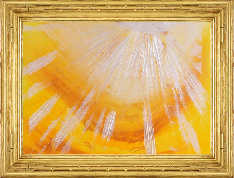 Sun Shine abstract painting by Ron Labryzz
