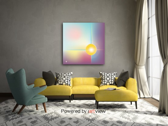SPHERA - original digital abstract art in context view by Ron Labryzz