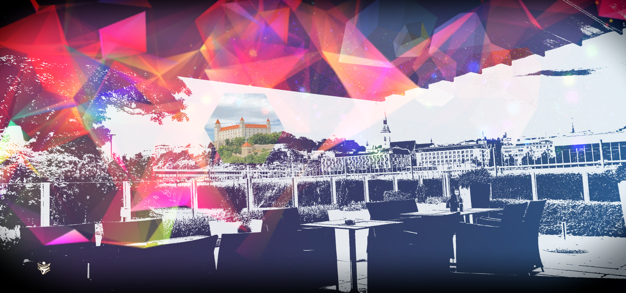 BRATISLAVA digital abstract art by Ron Labryzz, #rlart