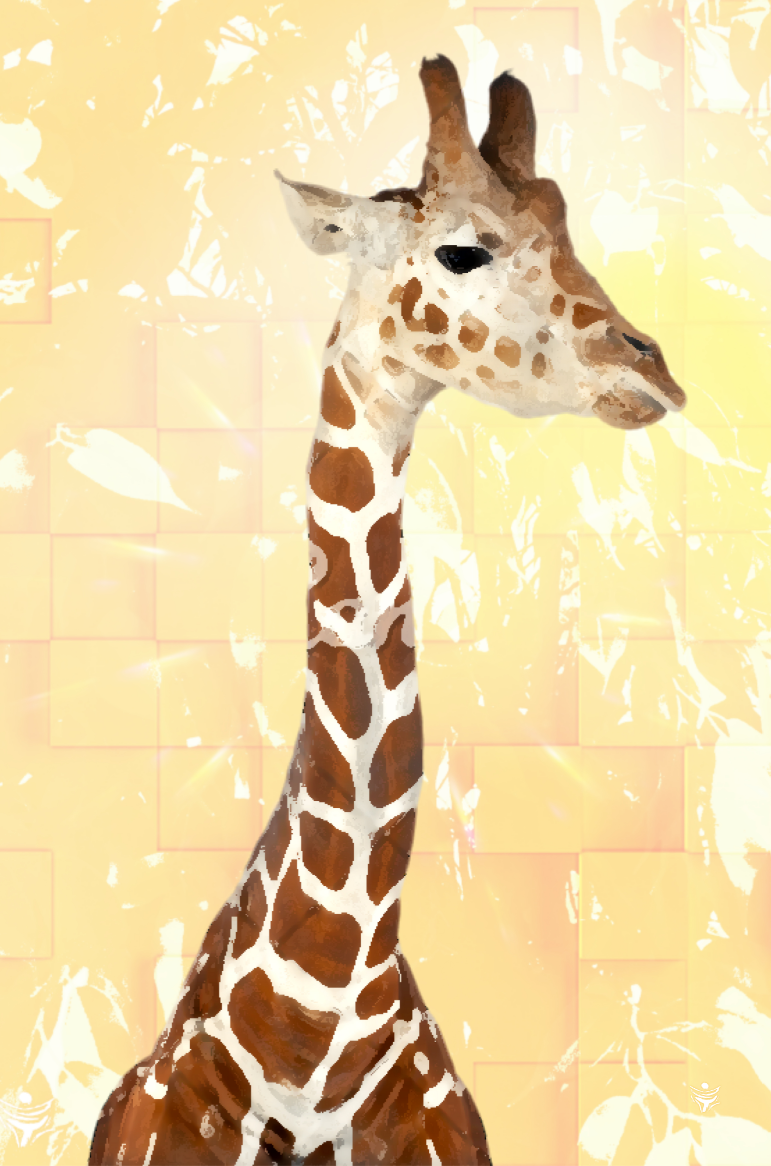GIRAFFE 1 digital animal art by Ron Labryzz, #rlart